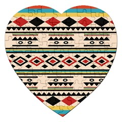 Tribal Pattern Jigsaw Puzzle (heart) by BangZart