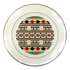 Tribal Pattern Porcelain Plates by BangZart