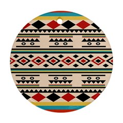 Tribal Pattern Round Ornament (two Sides) by BangZart