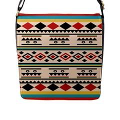 Tribal Pattern Flap Messenger Bag (l)  by BangZart