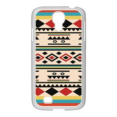 Tribal Pattern Samsung Galaxy S4 I9500/ I9505 Case (white) by BangZart