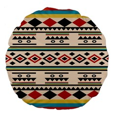 Tribal Pattern Large 18  Premium Flano Round Cushions by BangZart