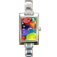 Colorful Balloons Render Rectangle Italian Charm Watch by BangZart