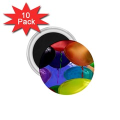 Colorful Balloons Render 1 75  Magnets (10 Pack)  by BangZart
