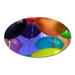 Colorful Balloons Render Oval Magnet by BangZart