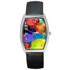 Colorful Balloons Render Barrel Style Metal Watch by BangZart