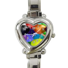 Colorful Balloons Render Heart Italian Charm Watch by BangZart