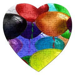 Colorful Balloons Render Jigsaw Puzzle (heart) by BangZart
