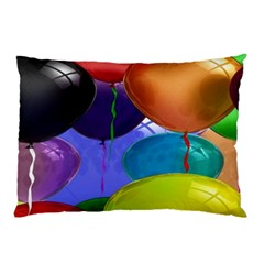 Colorful Balloons Render Pillow Case by BangZart