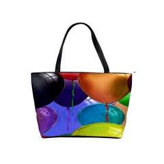 Colorful Balloons Render Shoulder Handbags by BangZart