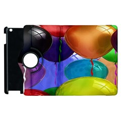 Colorful Balloons Render Apple Ipad 3/4 Flip 360 Case by BangZart