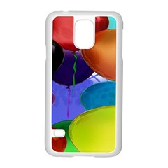 Colorful Balloons Render Samsung Galaxy S5 Case (white) by BangZart