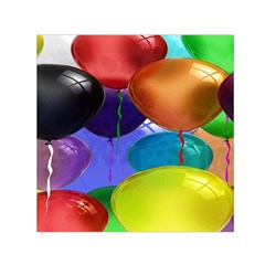 Colorful Balloons Render Small Satin Scarf (square) by BangZart