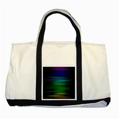 Blue And Green Lines Two Tone Tote Bag by BangZart