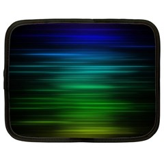 Blue And Green Lines Netbook Case (xxl)  by BangZart