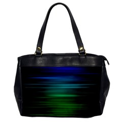 Blue And Green Lines Office Handbags by BangZart