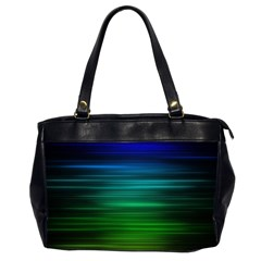 Blue And Green Lines Office Handbags (2 Sides)  by BangZart