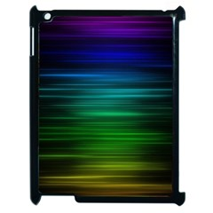 Blue And Green Lines Apple Ipad 2 Case (black) by BangZart