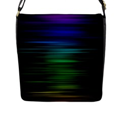 Blue And Green Lines Flap Messenger Bag (l)  by BangZart