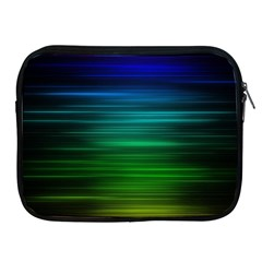 Blue And Green Lines Apple Ipad 2/3/4 Zipper Cases by BangZart