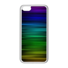 Blue And Green Lines Apple Iphone 5c Seamless Case (white) by BangZart