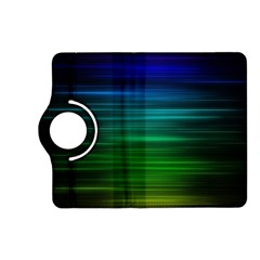Blue And Green Lines Kindle Fire Hd (2013) Flip 360 Case by BangZart