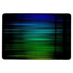 Blue And Green Lines Ipad Air Flip by BangZart