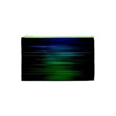 Blue And Green Lines Cosmetic Bag (xs) by BangZart