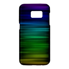 Blue And Green Lines Samsung Galaxy S7 Hardshell Case  by BangZart