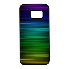 Blue And Green Lines Samsung Galaxy S7 Black Seamless Case by BangZart