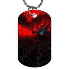 Spider Webs Dog Tag (two Sides) by BangZart