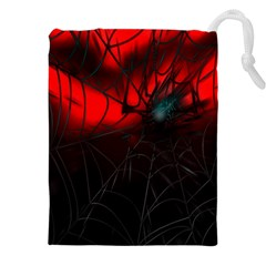 Spider Webs Drawstring Pouches (xxl) by BangZart