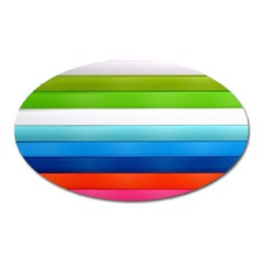 Colorful Plasticine Oval Magnet by BangZart