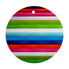 Colorful Plasticine Round Ornament (two Sides) by BangZart
