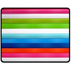 Colorful Plasticine Fleece Blanket (medium)  by BangZart