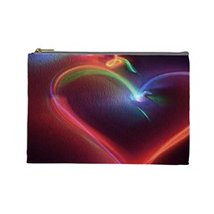 Neon Heart Cosmetic Bag (large)  by BangZart