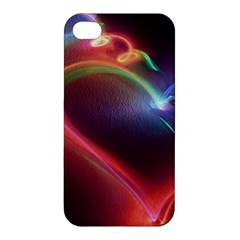 Neon Heart Apple Iphone 4/4s Hardshell Case by BangZart