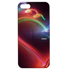 Neon Heart Apple Iphone 5 Hardshell Case With Stand by BangZart