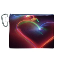 Neon Heart Canvas Cosmetic Bag (xl) by BangZart