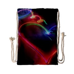 Neon Heart Drawstring Bag (small) by BangZart
