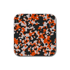 Camouflage Texture Patterns Rubber Coaster (square)  by BangZart