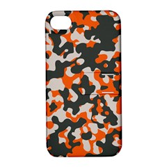 Camouflage Texture Patterns Apple Iphone 4/4s Hardshell Case With Stand by BangZart