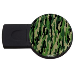 Green Military Vector Pattern Texture Usb Flash Drive Round (2 Gb) by BangZart