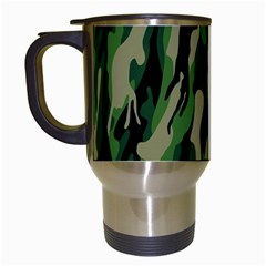 Green Military Vector Pattern Texture Travel Mugs (white) by BangZart