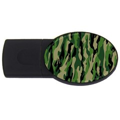 Green Military Vector Pattern Texture Usb Flash Drive Oval (4 Gb) by BangZart