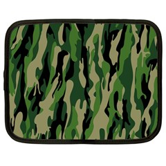 Green Military Vector Pattern Texture Netbook Case (large) by BangZart