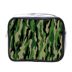 Green Military Vector Pattern Texture Mini Toiletries Bags by BangZart