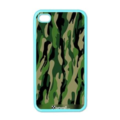 Green Military Vector Pattern Texture Apple Iphone 4 Case (color) by BangZart