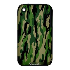 Green Military Vector Pattern Texture Iphone 3s/3gs by BangZart