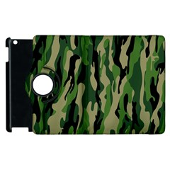 Green Military Vector Pattern Texture Apple Ipad 2 Flip 360 Case by BangZart